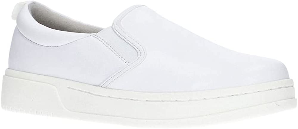 Easy Works by Easy Street Womens Guide Slip On Sneakers Shoes Casual - White - Size 9 W