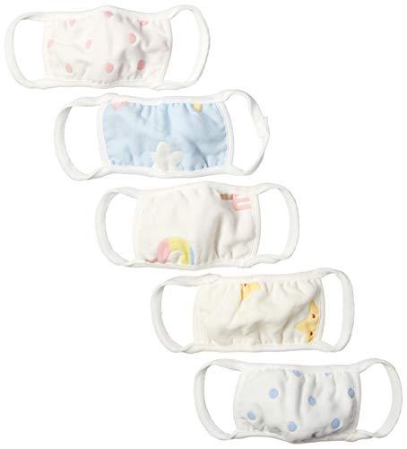 [エンジェルルナ] マスク 5枚入り 洗える 布 6層ガーゼ 子供用 個包装 ますく mask al490025 子供用5枚マル...