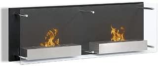 Moda Flame Faro Wall Mounted Bio Ethanol Ventless Fireplace