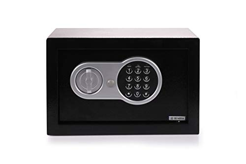 Univision Tresor Kjeld mit elekronischem Zahlenschloss(Doppelstahlbolzen, kleiner Safe, Möbeltresor, Wandtresor)
