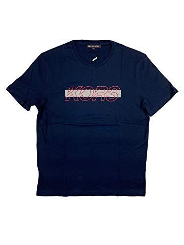 Michael Kors Racing Logo Camiseta en Dark Midnight Azul azul S