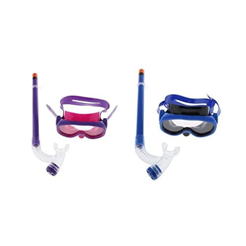 Sharplace 2 Piezas Natación Infantil Anti-Niebla Gafas para Niños Máscara de Buceo Y Tubo de Respiradero