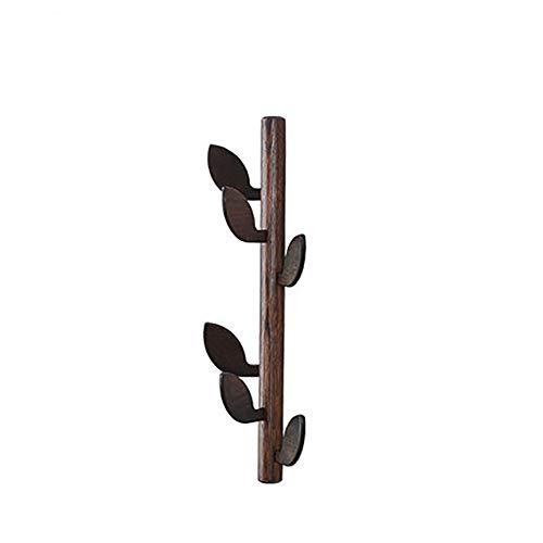 YLCJ Effen houten kapstok Creatieve woonkamer Eenvoudige kapstok Houten kapstok Entree veranda Scandinavische wandjas hanger Coat hanger (kleur: BROWN)