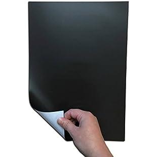 Self Adhesive Rubber Steel Ferrite Ferrous Sheet/Roll Magnetic Movement Tray (1 x A4 Sheet (297 x 210mm))