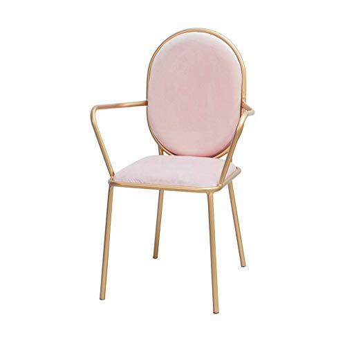 WGEMXC Stuhl, Stühle, Stuhl Arm Pads, Hochstuhl, Hocker Speisen Stühle Metallisch Eisen Schlafzimmer Ankleidestuhl...