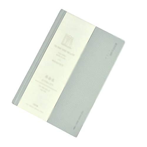 SFF Diario de bolsillo A5, tapa dura, 180°, papel grueso y plano, 192 páginas, 120 g/m², ideal para cuadernos de oficina (color: blanco)