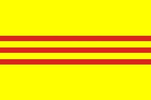 Zuid-Vietnam (Republiek Vietnam) 1948 tot 1975 Vlag 150cm x 90cm