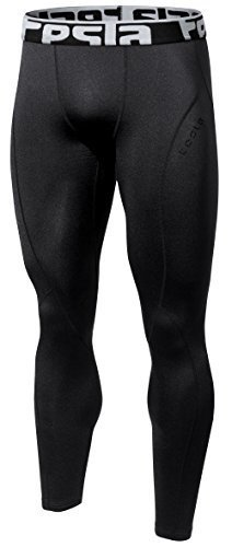 Tesla TM-YUP33-BLK_Large Men's Thermal Wintergear Compression Baselayer Pants Leggings Tights YUP33