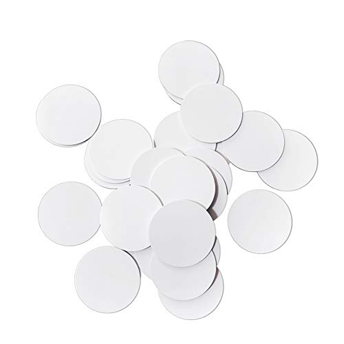 30 PCS NFC Tags NTAG215 PVC Tags Compatible with Amiibo TagMo and NFC-Enabled Mobile Phones and Devices, Round 25mm(1 inch)