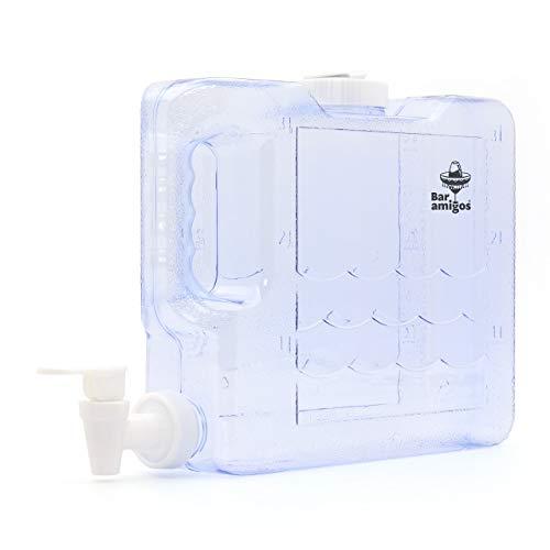 Bar Amigos - Dispensador de agua para nevera (3 L, plástico PETG, capacidad para 3 L)