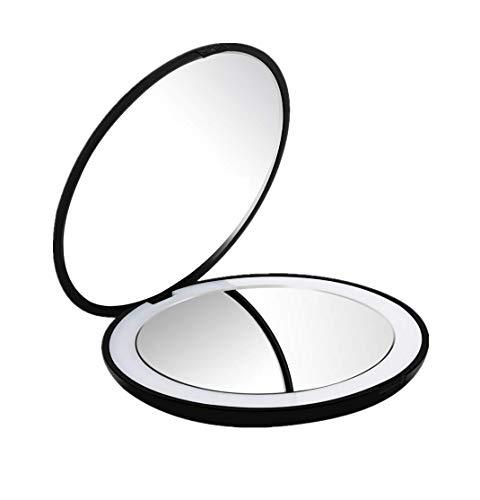 Espejo de Bolsillo,Flymiro Espejo de Bolsillo Compacto Ilumi
