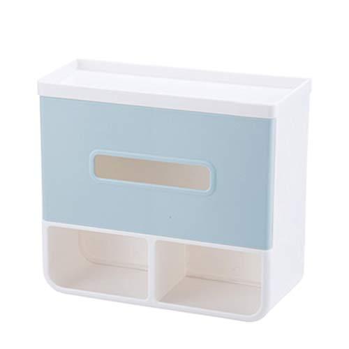 Haute qualité Support De Papier Toilette Salle De Bain Imperméable Rack De Stockage Poinçonnage Gratuit Boîte De Tissu 20.7 * 9 * 18.5cm Accessoires de salle de bain (Couleur : Bleu)