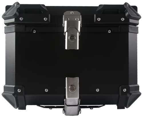 Rimontare il bauletto, bauletto universale in alluminio per moto da 45 litri(Nero)