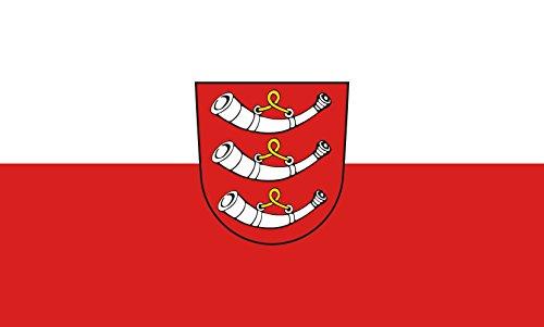 Unbekannt magFlags Tisch-Fahne/Tisch-Flagge: Aitrach 15x25cm inkl. Tisch-Ständer