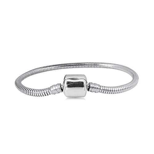 MiniJewelry - Pulsera de abalorios para mujer, diseño ovalado, cadena de serpiente europea