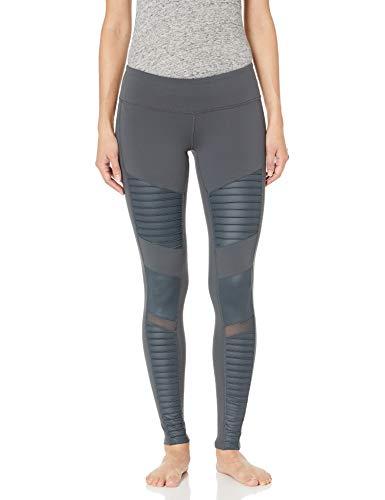 Alo Yoga Women's Moto Legging, Anthracite/Anthracite Glossy, Small