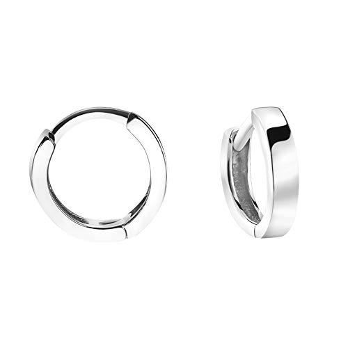 SOFIA MILANI - Damen Creolen 925 Silber - kleine, breite Ohrringe - 20823