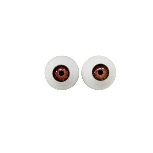 AILIJIA Silikon TPE Doll Eyes 32mm große Acryl Augäpfel für handgemachtes Bären Cosplay Braune
