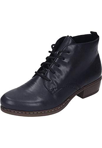 Rieker Damen Stiefeletten Y0843, Frauen Schnürstiefelette, Boot halb-Stiefel schnür-Bootie übergangsschuh Damen Frauen Lady,Navy,40 EU / 6.5 UK