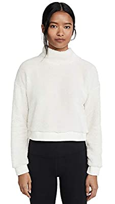Beyond Yoga Women's All Time Cropped Pullover, Cream, Off White, Medium by Beyond Yoga-Women's