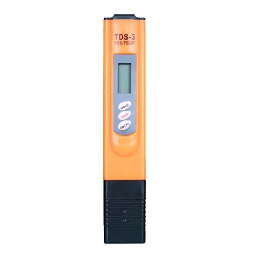joyMerit Digitale Wasserqualität Tester, TDS Messgerät, Messbereich 0-9999 ppm, Wasser Tester für Trinkwasser, Aquarien, Hydroponics, Pools - Orange