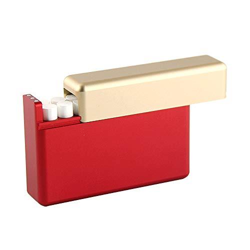 XFSタバコケース タバコ入れ IQOSタバコ専用ケース iQOSヒートスティック用箱 アイコスケース 電子タバコアクセサリー 18本入れ シガレットケース 煙草箱 タバコ収納箱 アルミ合金タバコ弾箱 マグネット式 便利 (ゴールド&レッド)
