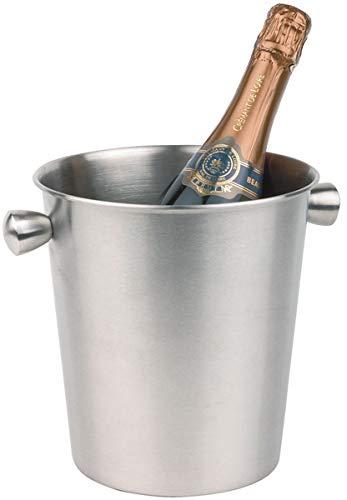 Buddy´s Bar - Secchiello del ghiaccio per vino/champagne, secchiello refrigeratore per bottiglie, glacette, opaco all'interno e all'esterno con solide maniglie a bottone, super robusto, capacità di 4L