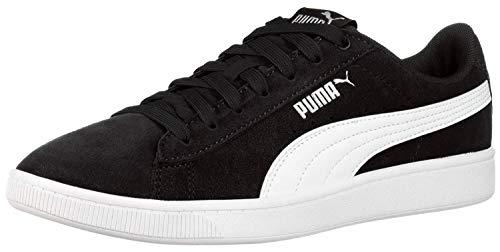 PUMA womens Vikky Sneaker, Black/White, 9 US