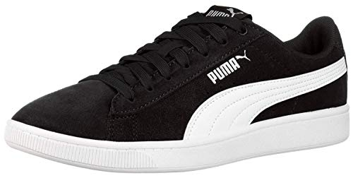 PUMA womens Vikky Sneaker, Black/White, 8 US