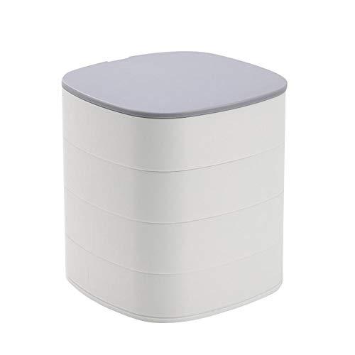 YHDNCG Joyero, caja de almacenamiento rotativa de 4 capas de 360...