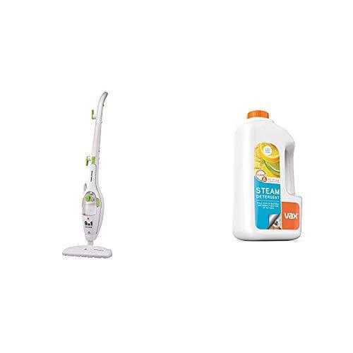 Morphy Richards 720020 9-in-1 Steam Cleaner - White & Vax Steam Detergent Citrus Burst 1L