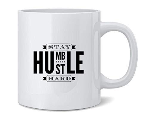 shenguang Stay Humble Hustle Hard Ceramic Coffee Jarra Tea Cup Fun Novelty Gift 12 oz