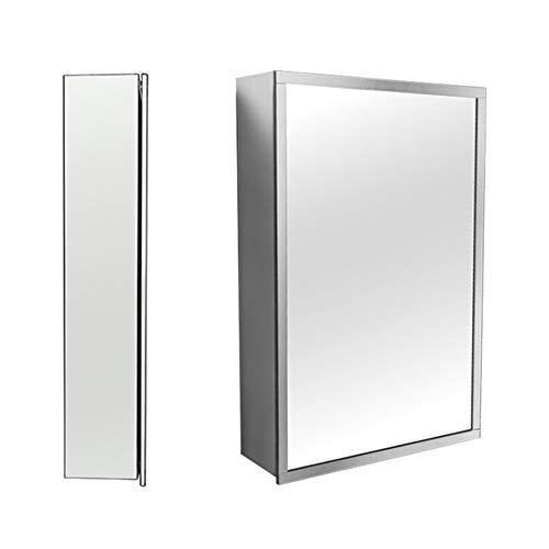 Nvshiyk Armario de Almacenamiento Gabinete de Espejo de Espejo de baño de Pared a Prueba de Agua a Prueba de Agua Cuarto de baño montado en la Pared (Color : Silver, Size : 50x70x13cm)