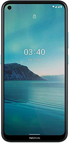 Nokia 3.4 Smartphone mit 6,39 Zoll HD+ Display, Qualcomm Snapdragon 460, 2 Tage Akkulaufzeit, Porträt- und Nachtmodus, 5MP ultraweite Kamera, robustes Design, Family Link und Android One, Fjord