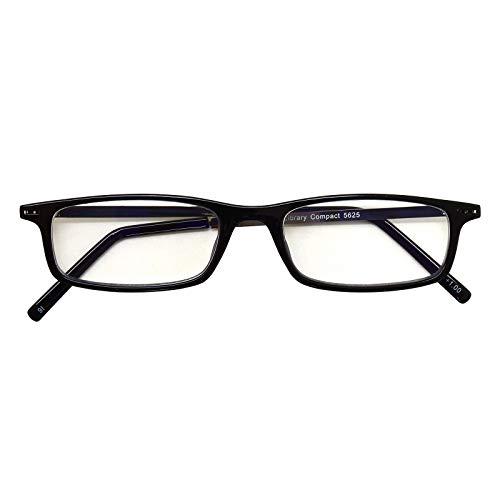 超薄型読書グラス ライブラリーコンパクト LIBRARY COMPACT リーディンググラス 老眼鏡 シニアグラス 薄型 軽量 スリム ブルーライトカット お洒落 おしゃれ ブラック +2.00