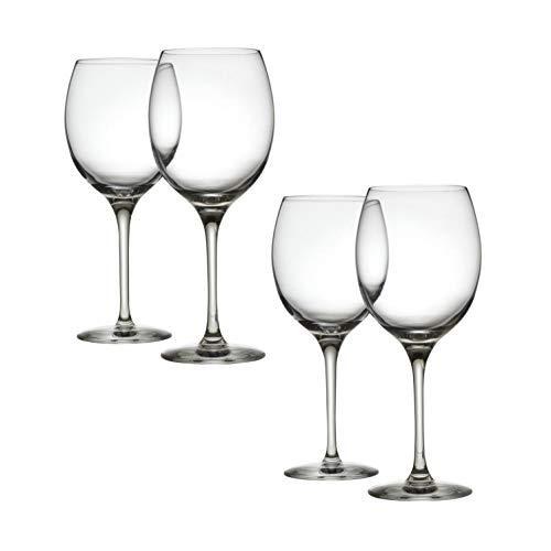 Mami - Set di 4 calici da vino bianco, misura XL, 45 cl, colore: Trasparente