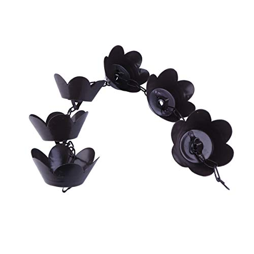 YARNOW Monarch Regenketten Lotus Kupfer Regenkette Fallrohr Kette Dachrinne Ketten Dekorative Glocken für Dachrinnen Fallrohr