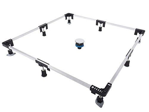 Aqualuxbad Montagerahmen für Duschwannen Duschwannenfuß Wannenfuß 75 x 75 bis 120 x 120 cm