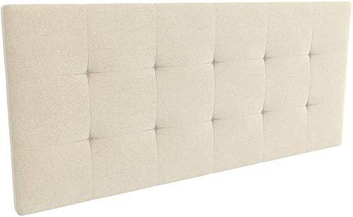 LA WEB DEL COLCHON - Cabecero tapizado Celio para Cama de 135 (145 x 70 cms) Beige Claro Textil Suave
