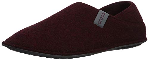 Crocs Women's Classic Convertible Slipper, Burgundy/Charcoal, 6 US Women / 4 US Men M US