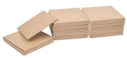 VBS Großhandelspackung Untersetzer Kerzenhalter 10x10 cm MDF-Holz Memorie basteln Kachel 50 Stück