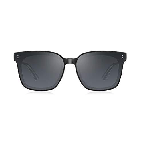 Protecciones Gafas Protectoras Gafas de Sol para Hombres Mujeres UV GM Black Super Gafas Conducción Gafas de Sol Moda de Moda Vidrios de Marco Grande Ojos (Color : B-Black)