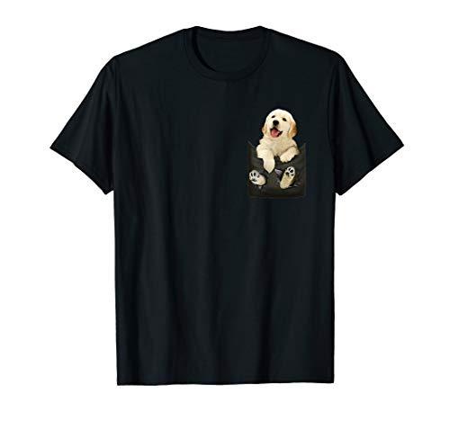 Golden Retriever In Pocket Puppy Mom T Shirt