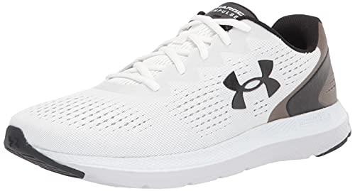 Under Armour Men's Charged Impulse 2 Running Shoe, White (100)/Black, 10