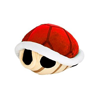 Super Mario Bros Koopa Shell Plush Big Size 16.5 inch Red Turtle shell by Taito