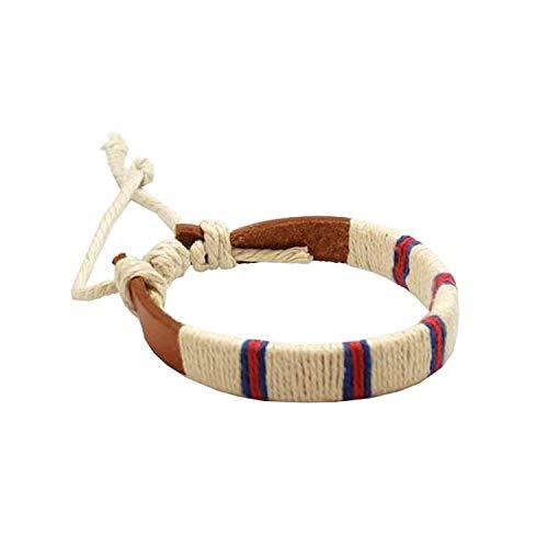 FJ255 - The Olivia Collection Bracelet en Cuir et Textile 17,5cm