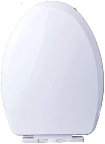 Tapa inodoro Asiento de inodoro Asiento de inodoro universal Big V / U Forma de gota MUTE Fácil de instalar Tapa de inodoro montado en la parte superior para adultos, blanco-41 ~ 49 * 35 ~ 36 cm, blan