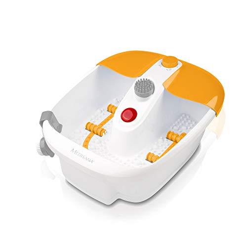 Medisana FS 883 Bain de pieds bouillonnant avec massage par vibration et par bain bouillonnant et fonction chauffante automatique avec Set de Pédicure - 88387