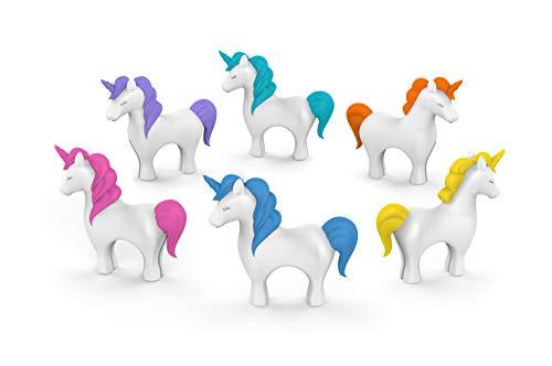 Fred & Friends Tiny Prancers - Marcadores para bebidas (estándar, unicornio)