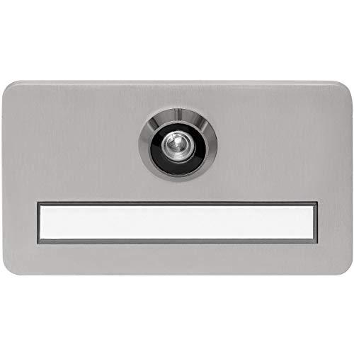 Solido Türschild mit Spion | Namensschild 120x70x6mm für TS 46-74mm | brandschutztauglich, matt